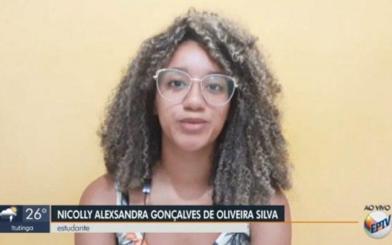 Nicolly-Alexsandra-Gonçalves-de-Oliveira-Silva-ao-vivo-no-jornal-da-EPTV-1º-Edição-550×300