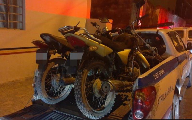 Numeração do chassi e motor das motos estava raspada
