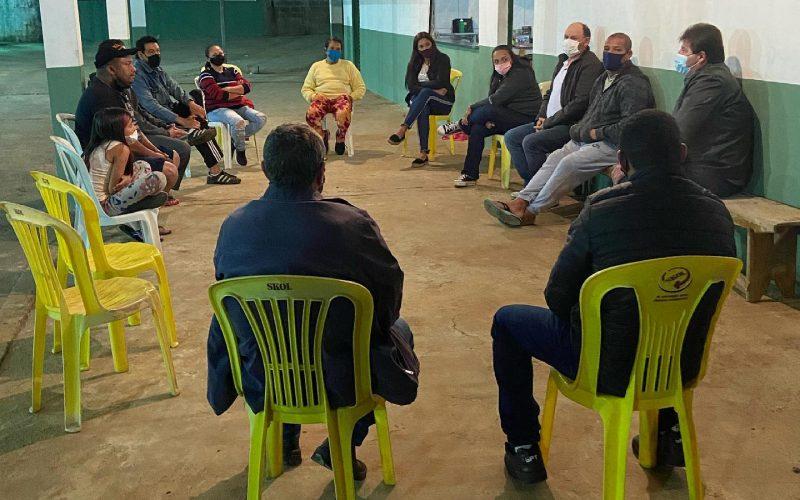 Reunião entre o prefeito Rodrigão e a diretoria da Associação Lua Esportes