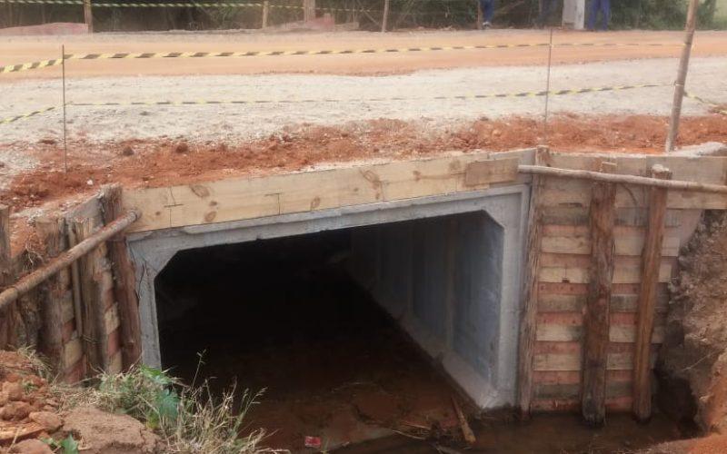Ponte de aduela finalizada na Estrada Pedro Rosa, no Salto do Meio